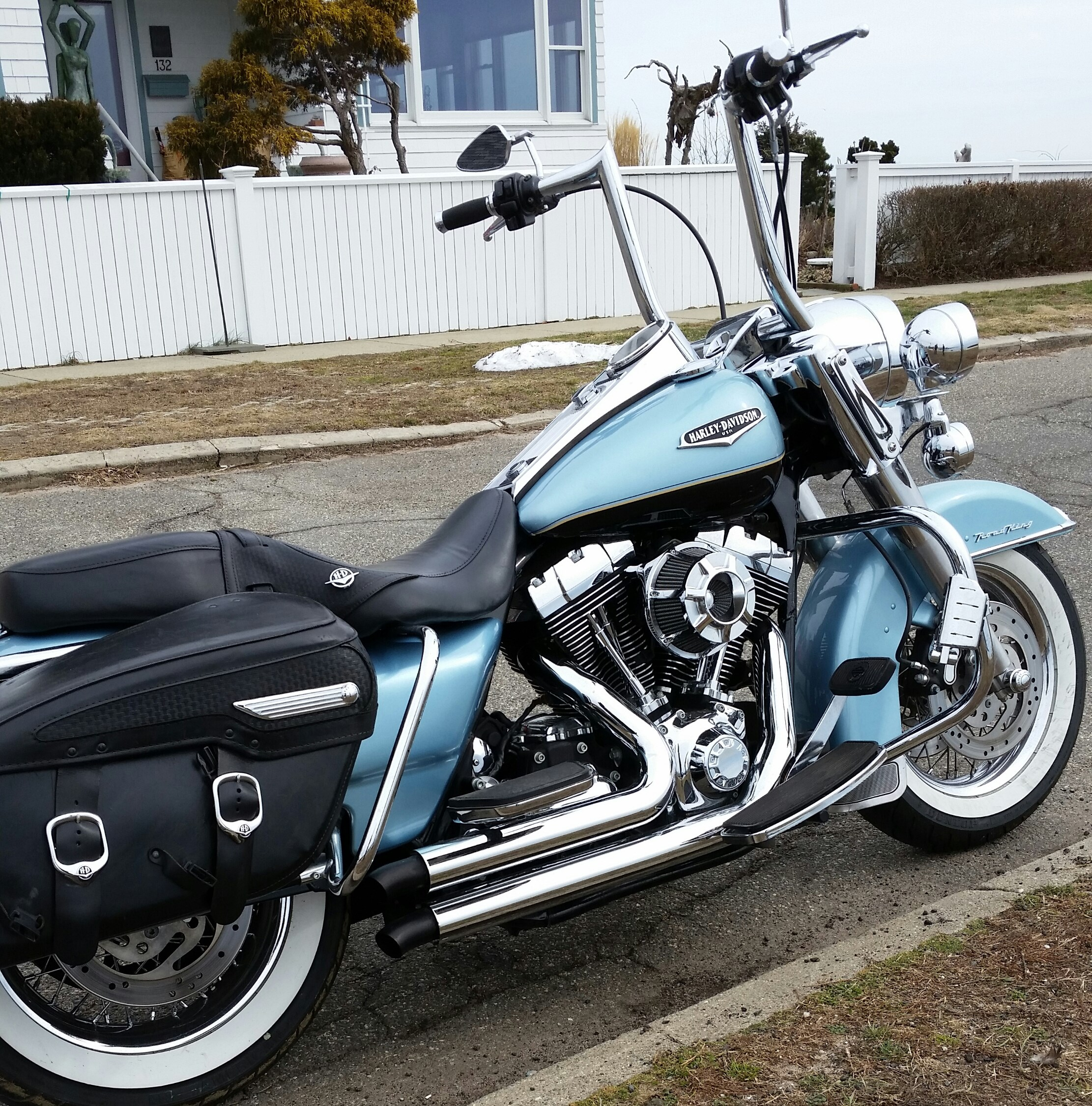 2007 harley davidson flhrc road king classic suede blue stratford connecticut 643258. Black Bedroom Furniture Sets. Home Design Ideas