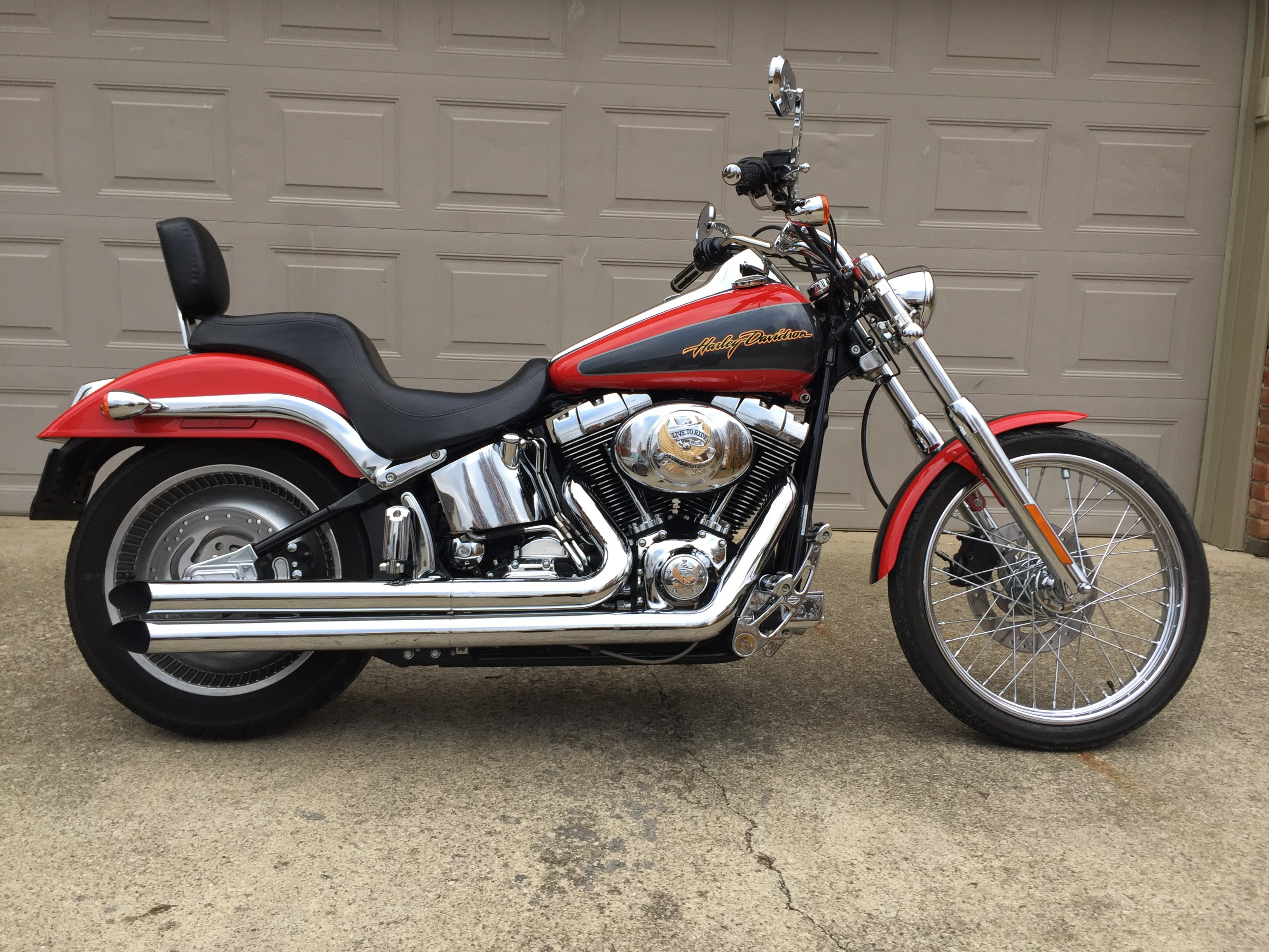 2006 harley davidson fxstd i softail deuce red grey. Black Bedroom Furniture Sets. Home Design Ideas