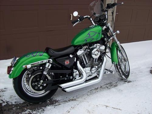 2000 Harley Davidson Xlh 883 Sportster 883 Candy Lime