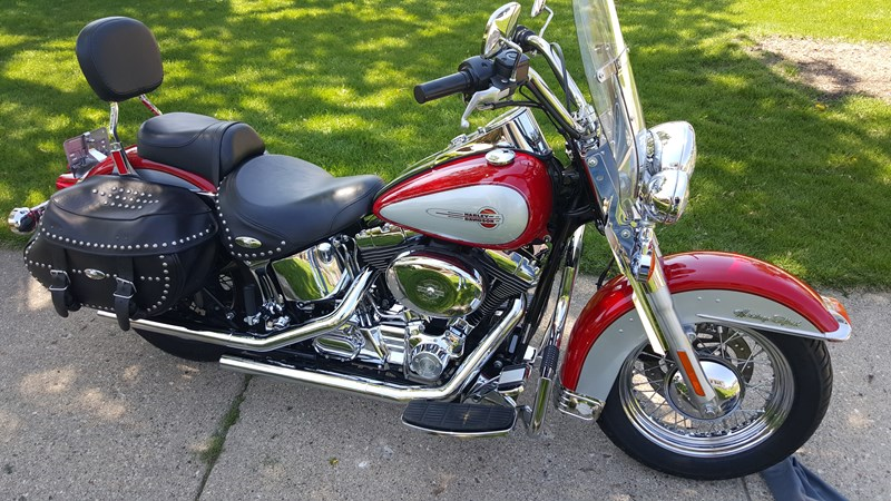 2002 harley davidson flstc i heritage softail classic red streator illinois 565222. Black Bedroom Furniture Sets. Home Design Ideas